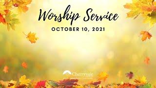 October 10, 2021 Sunday Worship Service at Cherryvale UMC, Staunton, VA