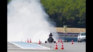 261 kph WATER ROCKET TRIKE ǀ 0-100 kph in 0.55 second (5.1g) ǀ Rider: François Gissy thumbnail