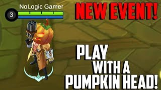 NEW TRICK OR TREAT EVENT! PLAY WITH A PUMPKIN HEAD | MOBILE LEGENDS - UPDATES | MLBB