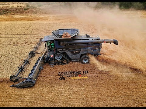 FENDT IDEAL 9T - Black Beast Combine in Germany!