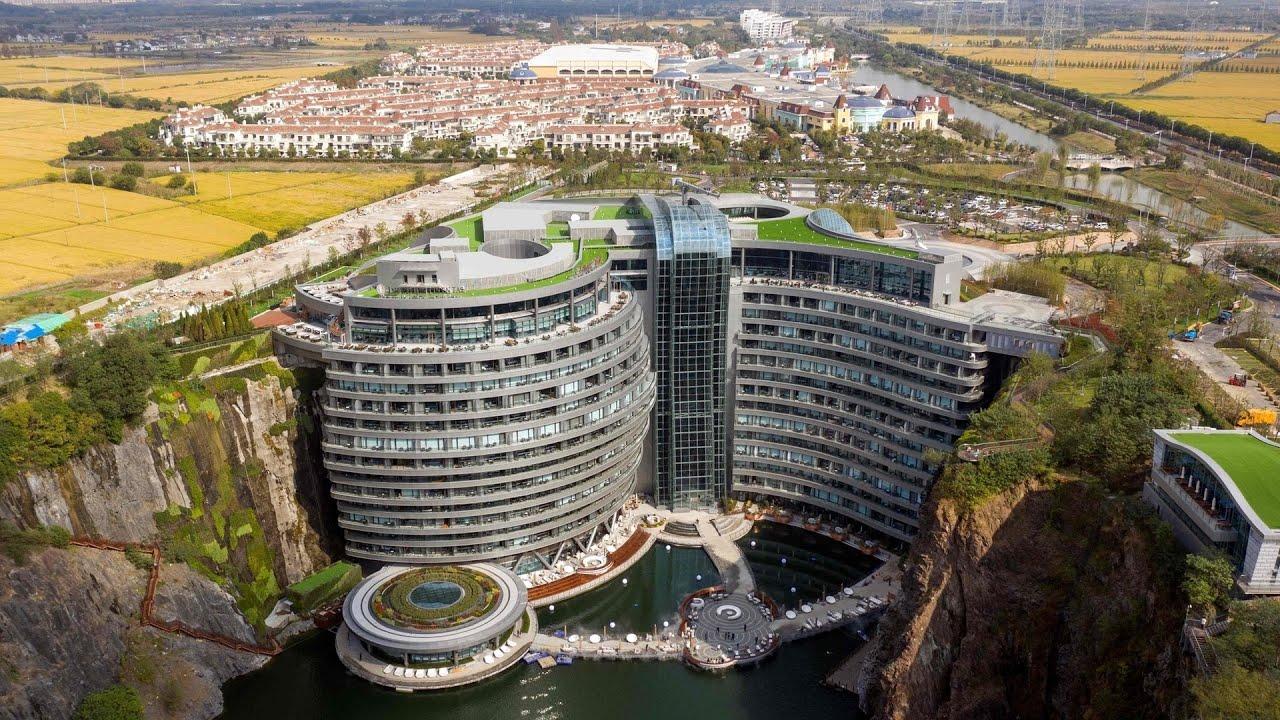 Spektakulärer Bau in China: Luxushotel eröffnet in Tagebau