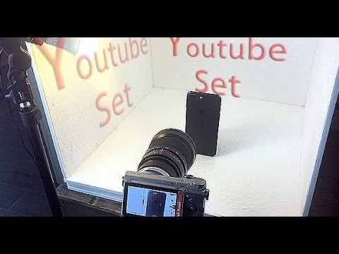 Creare un set fotografico per fare video su youtube o scattare foto per instagram, snapchat ecc