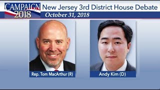 New Jersey 3rd Congressional District Debate Tom MacArthur vs Andy Kim Oct 31, 2018