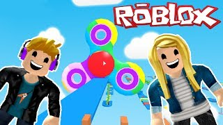 Roblox Fidget Spinner Obby - We Made It To The End!!!