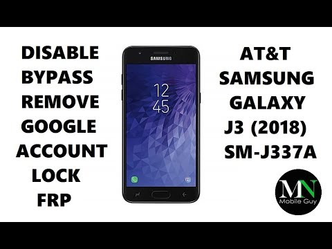 Disable Bypass Remove Google Account Lock FRP on AT&T Samsung Galaxy J3 (2018)!