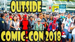 whats outside san diego comic con 2018 live