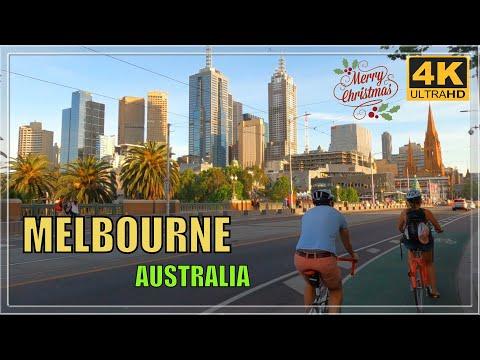 MELBOURNE CITY CENTRE TOUR CHRISTMAS AUSTRALIA 4K