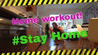 Home Gym. Тренировка дома Домашний тренажерный зал.