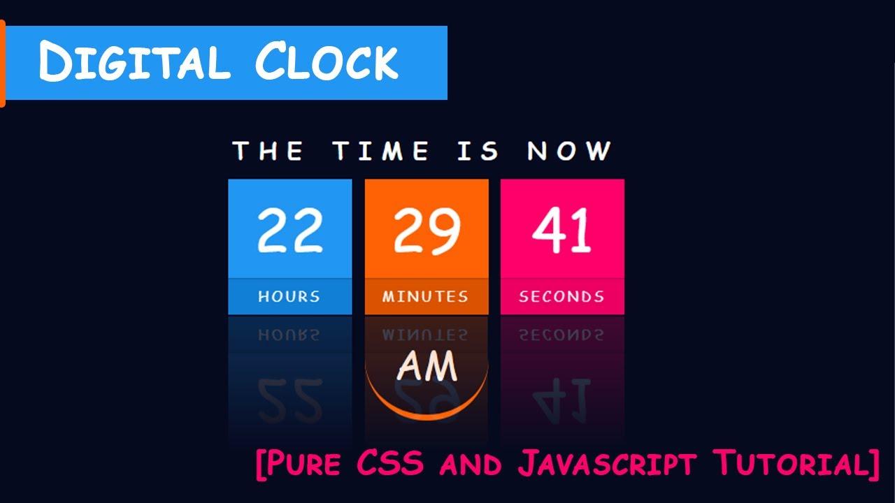 Build a Javascript Clock Using CSS and Javascript |Web Tutorials