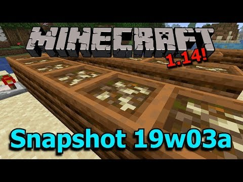 Minecraft 1.14 Snapshot 19w03a- New Composter Block, Campfire Model, New Sounds! thumbnail