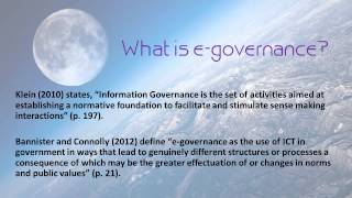 E-governance for E-government