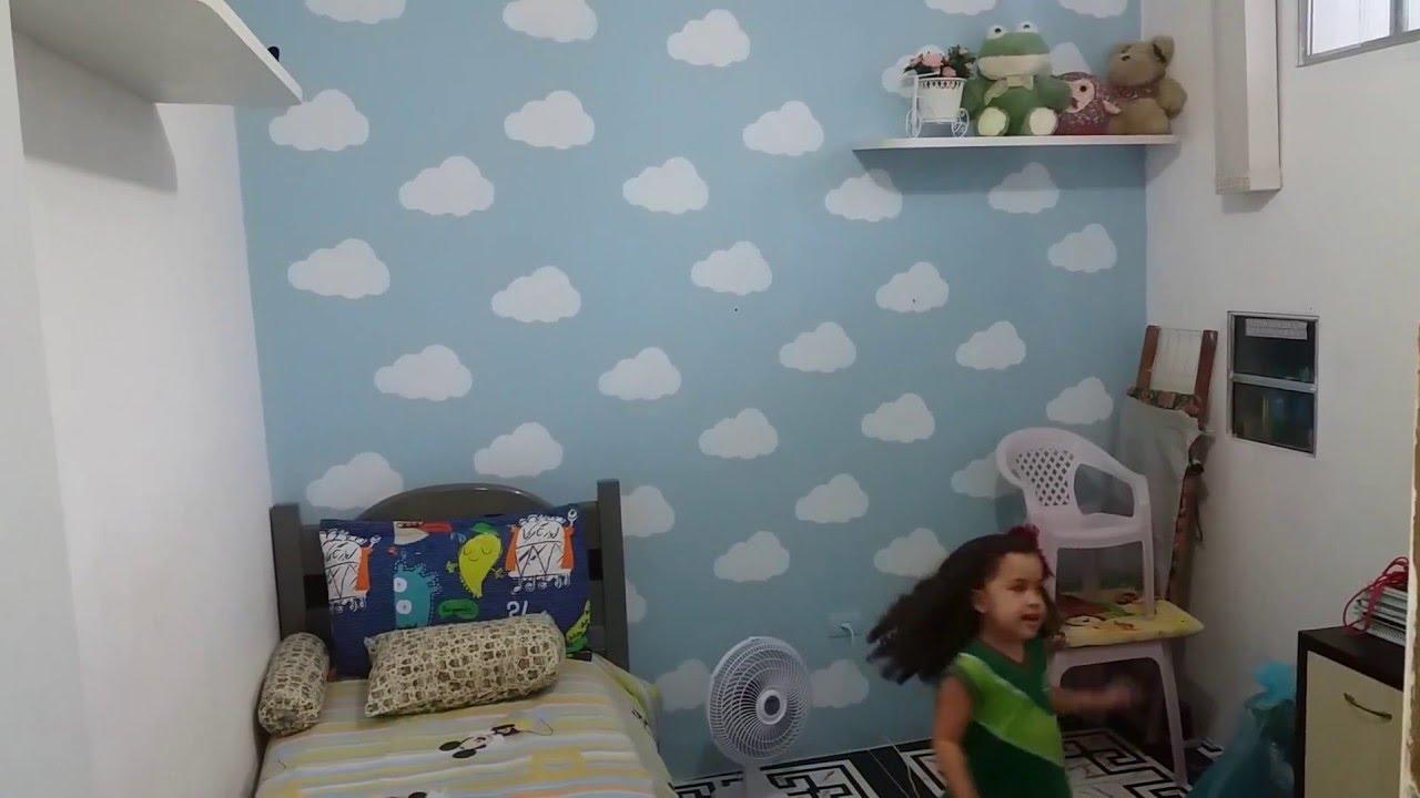 Dyi Parede Com Stêncilnuvemfaça Vc Mesma Youtube