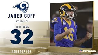 #32: Jared Goff (QB, Rams) | Top 100 Players of 2019 | NFL