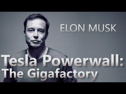 Elon Musk introduces the Gigafactory