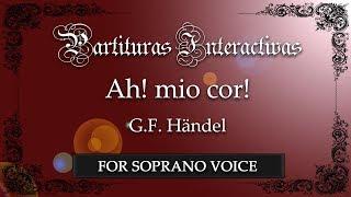 Ah! mio cor! schernito sei! - G. F. Händel (Karaoke - Key: G minor)