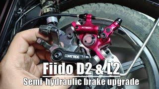 Zoom Xtech Cycling Hybrid Hydraulic Disc Rotor Brake Set for Road//MTB//E-Bike use