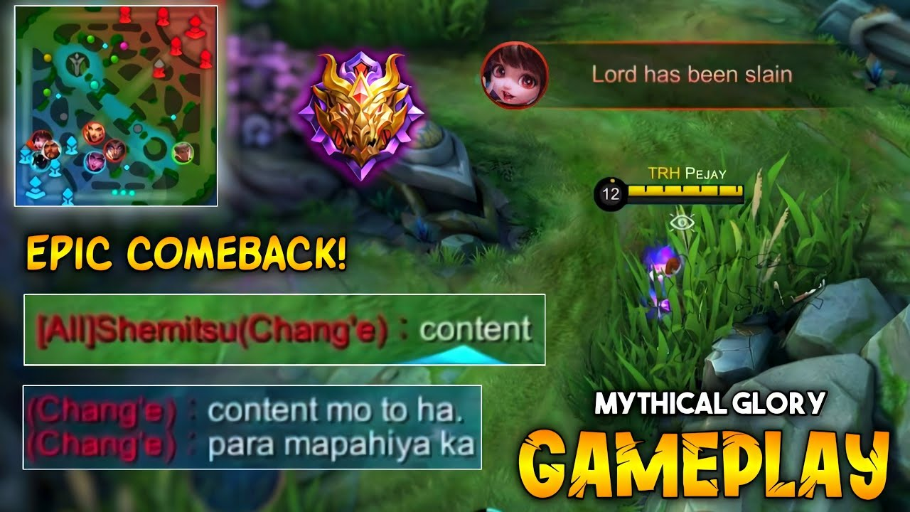 Chang`e Guess They win And They Want to me to Content this Gameplay | Epic Comeback! | MLBB
