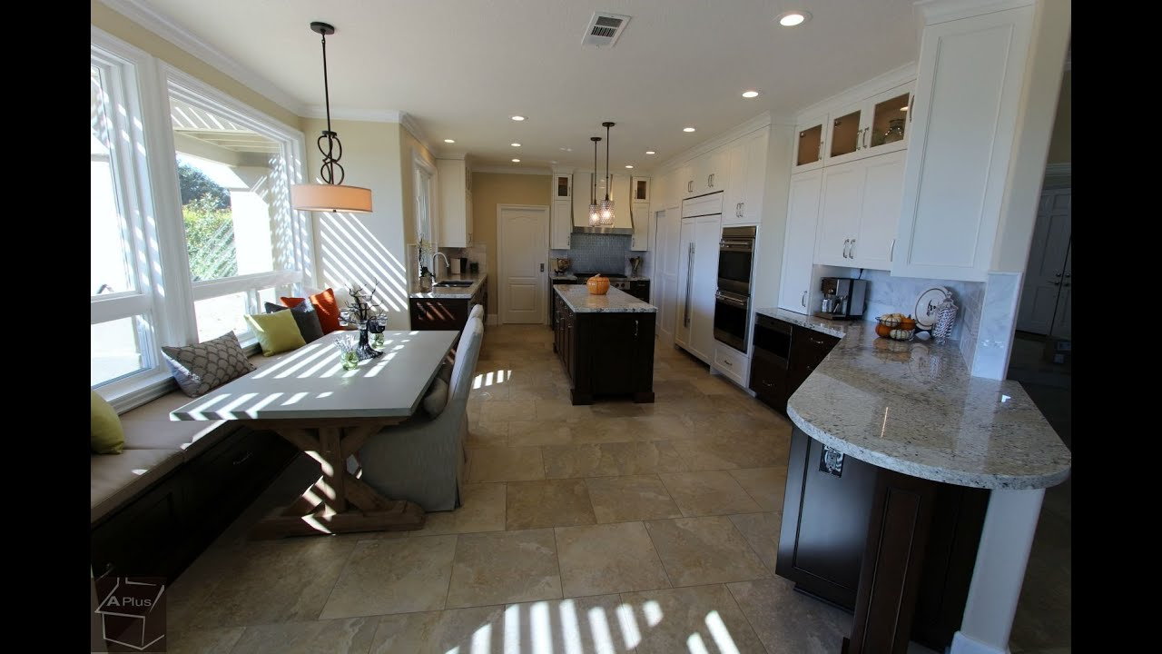 transitional design build kitchen remodel with custom cabinets in