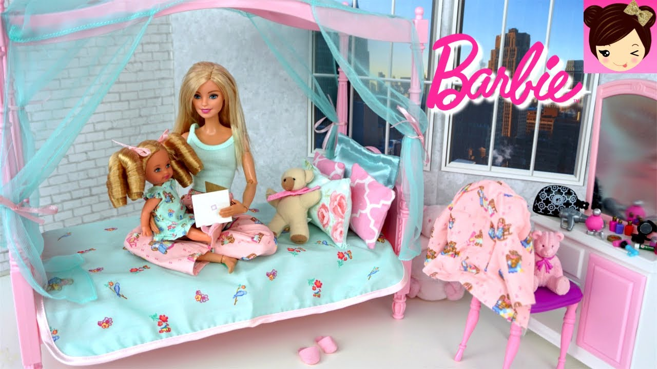 Barbie Bedroom In A Box: Barbie Babysitting Evening Routine