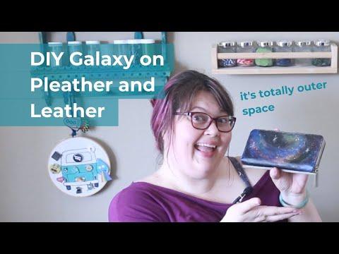 DIY Galaxy on Vinyl Fabric or Leather