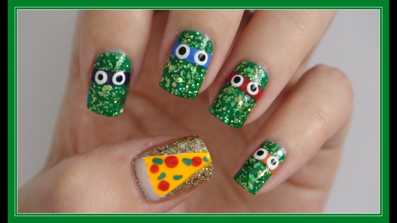 Teenage Mutant Ninja Turtle Nails!!! | MissJenFABULOUS - YouTube