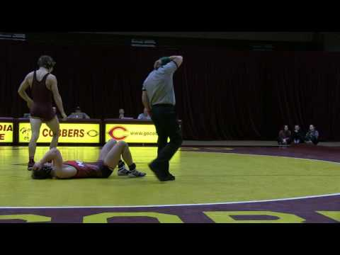 Cobber Wrestling - Pin Fall Highlight vs. MSU Moorhead - Nov. 16, 2016