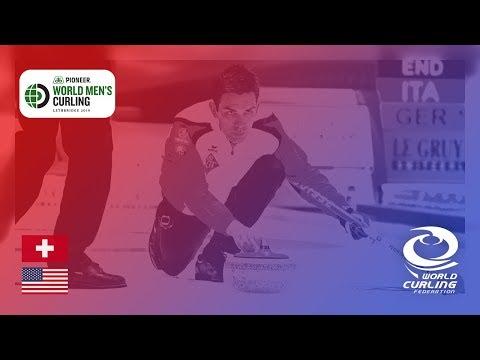 Switzerland v United States - round robin - Pioneer Hi-Bred World Men's Curling Championship 2019