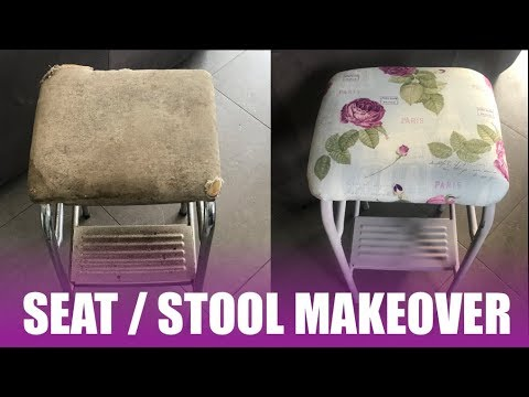 Old 70's kitchen stool refurbishment -  howto diy