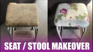 Old 70's kitchen stool refurbishment -  howto diy