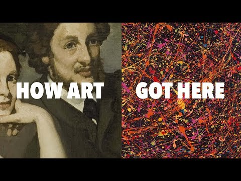 "A Quick Six Minute Journey Through Modern Art: How You Get from Manet's 1862 Painting, ""The Luncheon on the Grass,"" to Jackson Pollock 1950s Drip Paintings"