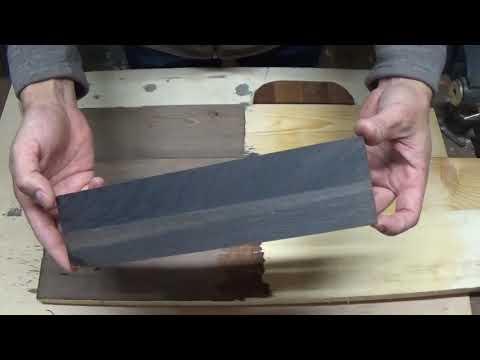 Старение (морение) древесины стальной ватой и уксусом. Уксусное железо.