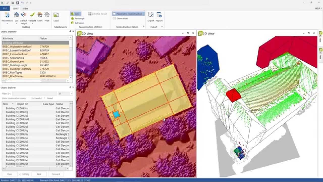Create semantic CityGML based 3d city models