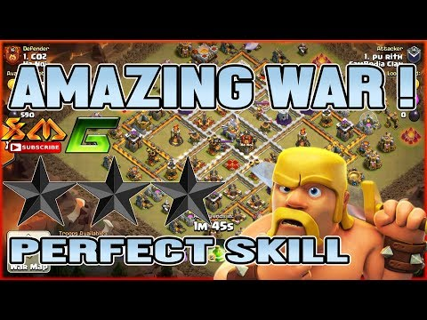 Clash of Clans⭐AMAZING WAR ! PERFECT SKILL ATTACK BY GROUND & AIR⭐ Try Do These !