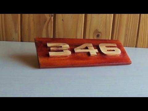 Sobre relieve en madera n meros letras figuras 3d - Casa letras madera ...