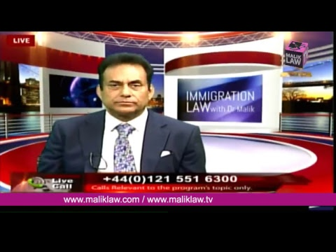Noor TVs Immigration Law with Dr Malik  14 April  2018