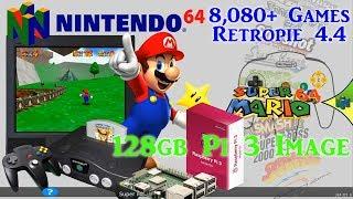 128gb Pi 3 B and B+ Ultimate Image Vman - 8,080+ Games PSX Dreamcast N64 SNES