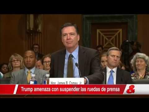 Trump le advierte al exdirector del FBI que no haga filtraciones a la prensa