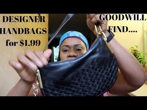 DESIGNER HANDBAGS For $1.99 | Goodwill Finds | HelenasQueendom