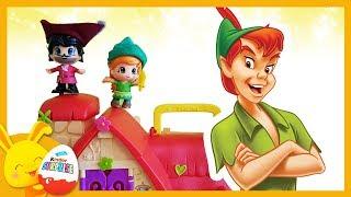 Histoire: Peter Pan, la fée Clochette et le Capitaine Crochet - Pinypon - Touni Toys Titounis