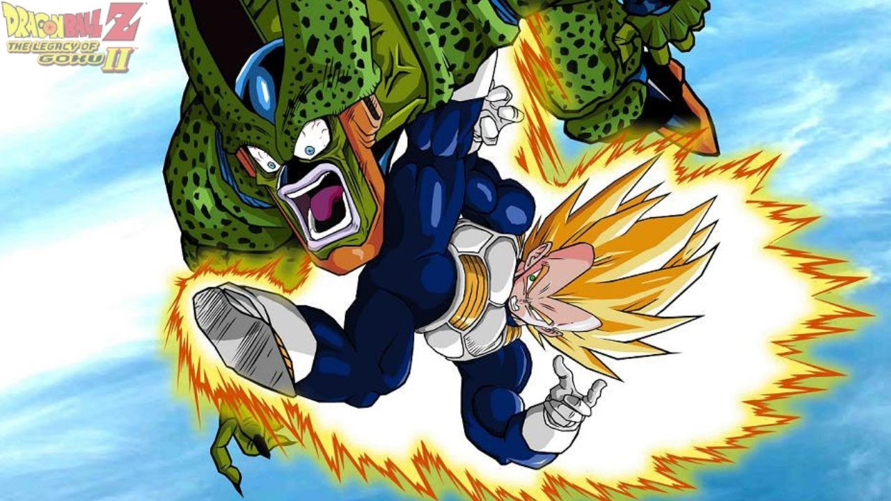 Super vegeta vs imperfect cell dragon ball z legacy of goku 2 22 youtube - Super cell dbz ...
