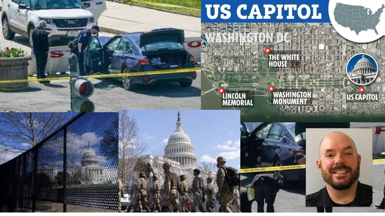 US Capitol on lockdown as vehicle hits & injures 2 police officers outside it