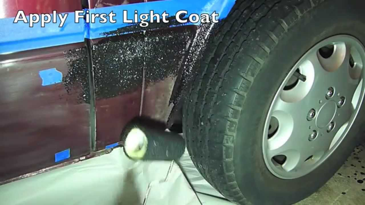 how to prep and apply truck bed liner - bed liner paint kit