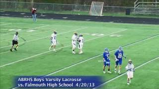 Acton Boxborough Varsity Boys Lacrosse vsFalmouth 4/20/13