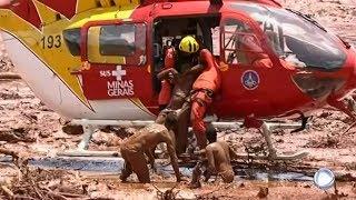 Así fue el rescate de una de las sobrevivientes del desastre de la presa de Brumadinho.