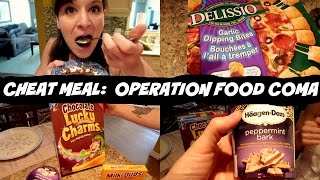 Food Coma Cheat Meal | Haagen Dazs | Garlic Bites Pizza | Nicole Collet