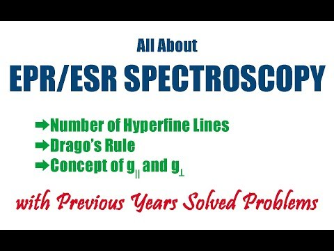 All About ESR/EPR Spectroscopy