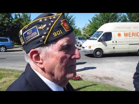 CRHnews - Corporal Al Momme re-dedicates USAAF Memorial Boreham Airfield