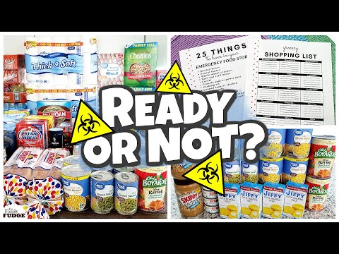 4 Week PANDEMIC QUARANTINE Grocery Haul   HOW TO PLAN and ORGANIZE