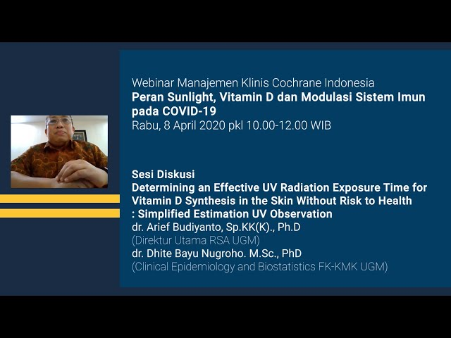 Sesi Diskusi Determining an Effective UV Radiation Exposure Time for Vitamin D Synthesis in the Skin