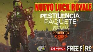 🔴 Nuevo Luck Royale - FREE FIRE - Paquete Pestilencia!!!